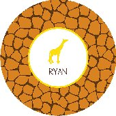 Spots on My Plate Orange Personalized Dinnerware
