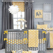 Glenna Jean Swizzle Yellow Crib Set
