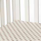 Glenna Jean Calliope Brown Dot Crib Sheet