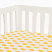 Glenna Jean Swizzle Yellow Crib Sheet