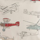 Glenna Jean Fly By Airplane Print Fabric