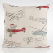 Glenna Jean Fly By Airplane Print Pillow