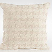 Glenna Jean Fly By Cream Houndstooth Check Pillow