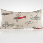 Glenna Jean Fly By Rectangle Airplane Print Pillow