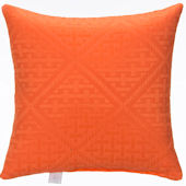 Glenna Jean Lilly And Flo Orange Pillow