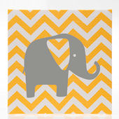 Glenna Jean Swizzle Chevron With Elephant Wall Art