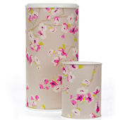 Glenna Jean Blossom Wastebasket And Hamper Can Set