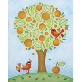 Orange Tree Wall Art