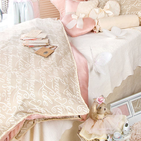 Glenna Jean Love Letters Duvet Cover The Frog and the Princess