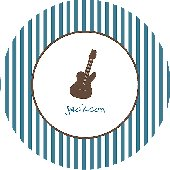 My Plate Rocks Stripe Personalized Dinnerware