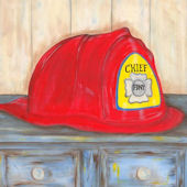 Beckie Ann Harwood Firefighter Framed Art