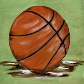 Beckie Ann Harwood  Sports Basketball  Framed Art