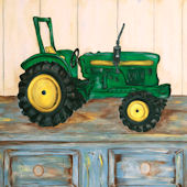 Beckie Ann Harwood  Tractor  Framed Art