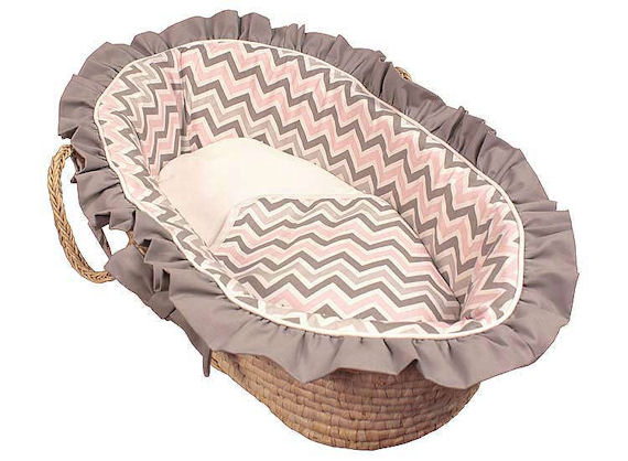 Butterfly Hoohobbers Doll Moses Basket