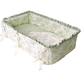 Etoile Green 3pc Cradle Bedding Set The Frog And The