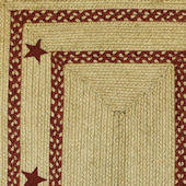 Home Spice Texas Red Jute Braided Rug