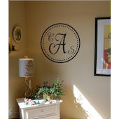 Elegant Dot Monogram Vinyl Wall Sticker