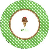 Chocolate Ice Cream Cone Personalized Dinnerware