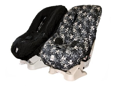 itzy ritzy black skulls toddler car seat cover the frog and the princess. Black Bedroom Furniture Sets. Home Design Ideas