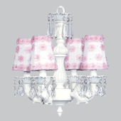 4 Arm Fountain Chandelier with Flower Shade