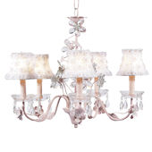 5 Arm Pink Flower Chandelier