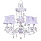 5 Arm Flower Garden Chandelier Lavender Flower