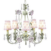 5 Arm Flower Garden Chandelier Petal Shade