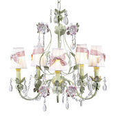 5 Arm Flower Garden Chandelier Lavender Check
