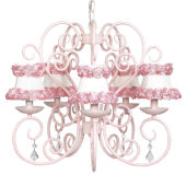 5 Arm Carriage Chandelier Ring of Roses Shade
