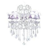 5 Arm Carousel Chandelier with Lavender Shade