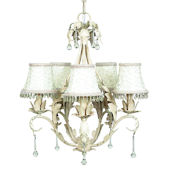 5 Arm Caesar Chandelier with Ivory Dangle Shade