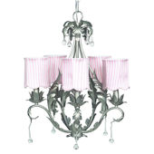 5 Arm Caesar Chandelier with Pink Drum Shade