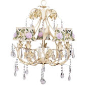 5 Arm  Ballroom Chandelier with Rose Net Shade
