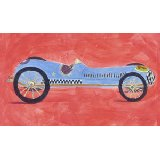 Retro Racer Number 1 Wall Art
