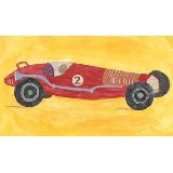 Retro Racer Number 2 Wall Art