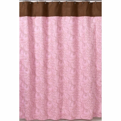 Jojo Pink Paisley Shower Curtain