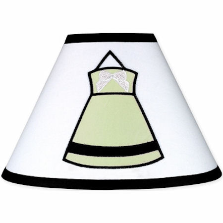 Jojo Princess Black  White and Green  Lamp Shade