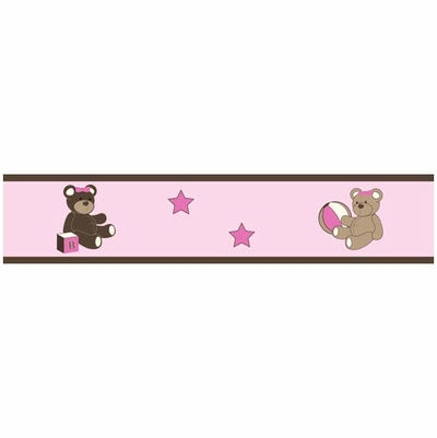 Jojo Teddy Bear Pink Wallpaper Border The Frog And The ...