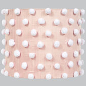 Jubilee Pink Drum With Pom Pom Large Shade