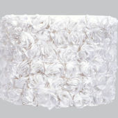 Jubilee White Rose Garden Drum Large Shade
