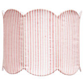 Jubilee Double Scallop Pink And White Large Shade