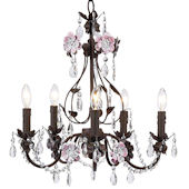 Jubilee Flower Garden Chandelier Mocha and Pink