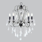 Jubilee Whimsical Chandelier Black