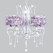 Colleen Chandelier With Lavender Rose Shades