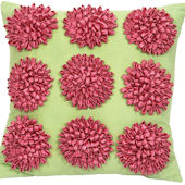 Jubilee Dahlia Pillow Pink and Green