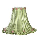Green Check Ruffled Edge Large Shade