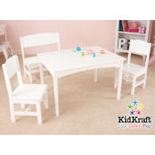 Kid Kraft Nantucket Table with Bench and 2 Chairs