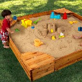 Backyard Wooden Sandbox