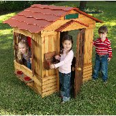 Little Cottage 8 x 8 Victorian Wood Playhouse - Outdoor Playhouses
