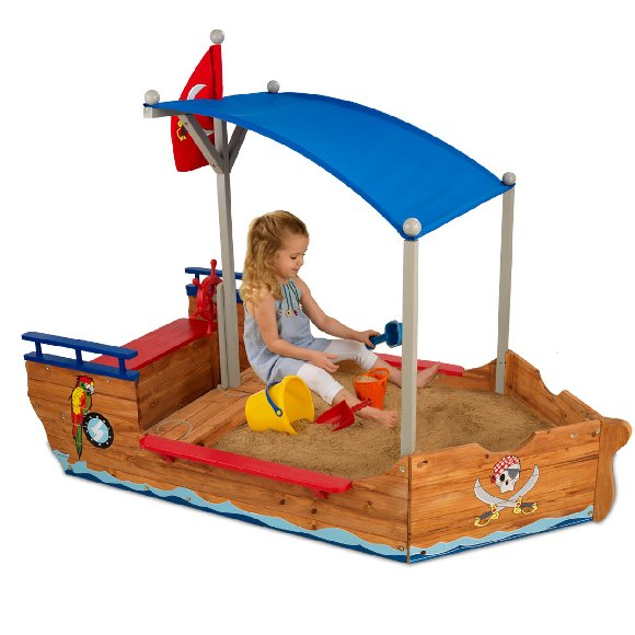 Pirate Outdoor Wooden Sandbox Boat The Frog And Princess